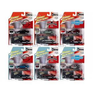 Johnny Lightning Collectors Tin 2020 Set of 6 Cars Release 2 Limited Edition to 3340 pieces Worldwide 1/64 Diecast Model Cars by Johnny Lightning