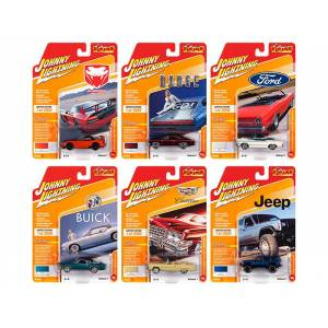 Johnny Lightning Classic Gold 2020 Release 1 Set A of 6 Cars Limited Edition to 3000 pieces Worldwide 1/64 Diecast Model Cars by Johnny Lightning