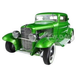 Acme 1932 Ford Grand National Deuce Series 6 Last in Series Synergy Green Metallic Limited Edition to 996pcs 1/18 Diecast Model Car by Acme