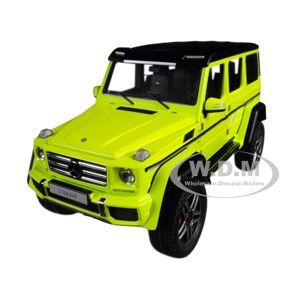 Autoart Mercedes Benz G500 4X4 2 Electric Beam/ Yellow 1/18 Model Car by Autoart