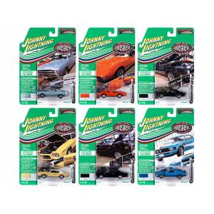 """Johnny Lightning Muscle Cars USA 2020 Set A of 6 Cars Release 3 """"Muscle Car & Corvette Nationals"""" (MCACN) Limited Edition to 2834 pieces Worldwide 1/64 Diecast Mo"""