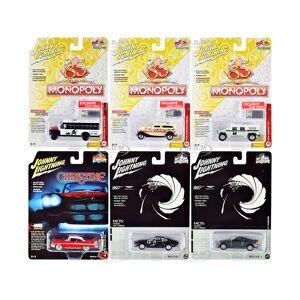 Johnny Lightning Pop Culture 2020 Set of 6 Cars Release 1 1/64 Diecast Model Cars by Johnny Lightning