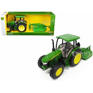 ERTL / TOMY John Deere 5125R Tractor with MX7 Rotary Cutter 1/16 Diecast Model by ERTL TOMY