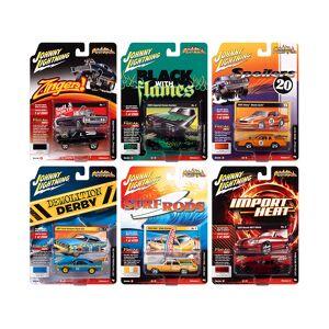 """Johnny Lightning """"Street Freaks"""" 2020 Set B of 6 Cars Release 4 1/64 Diecast Model Cars by Johnny Lightning"""