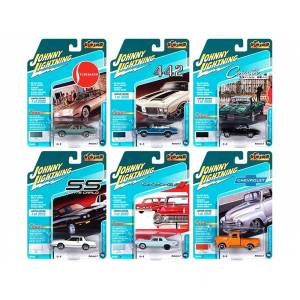"""Johnny Lightning """"Classic Gold Collection"""" 2020 Set A of 6 Cars Release 2 1/64 Diecast Model Cars by Johnny Lightning"""