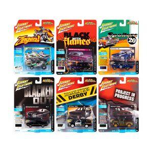 "Johnny Lightning ""Street Freaks"" 2020 Release 1 Set A of 6 Cars 1/64 Diecast Models by Johnny Lightning"