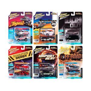 """Johnny Lightning """"Street Freaks"""" 2020 Set B of 6 Cars Release 2 1/64 Diecast Model Cars by Johnny Lightning"""