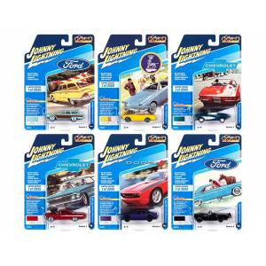 """Johnny Lightning """"Classic Gold Collection"""" 2020 Set B of 6 Cars Release 3 Limited Edition to 2000 pieces Worldwide 1/64 Diecast Model Cars by Johnny Lightning"""