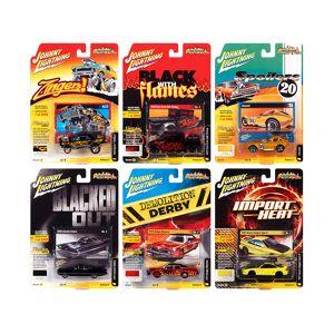 "Johnny Lightning ""Street Freaks"" 2020 Set A of 6 Cars Release 3 1/64 Diecast Model Cars by Johnny Lightning"