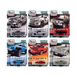 Autoworld Premium 2020 Set A of 6 pieces Release 5 1/64 Diecast Model Cars by Autoworld