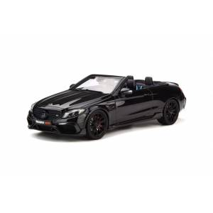 GT Spirit Mercedes Benz Brabus 650 Convertible Black Limited Edition to 500 pieces Worldwide 1/18 Model Car by GT Spirit
