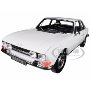 Norev 1969 Peugeot 504 Coupe Arosa White 1/18 Diecast Model Car by Norev