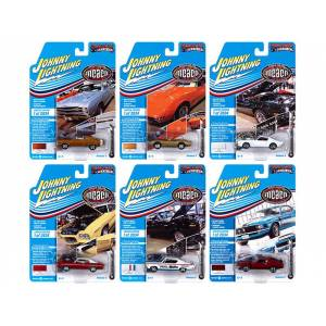 """Johnny Lightning Muscle Cars USA 2020 Set B of 6 Cars Release 3 """"Muscle Car & Corvette Nationals"""" (MCACN) Limited Edition to 2834 pieces Worldwide 1/64 Diecast Mo"""