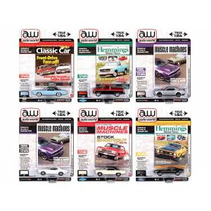 Autoworld Premium 2020 Set B of 6 pieces Release 4 1/64 Diecast Model Cars by Autoworld