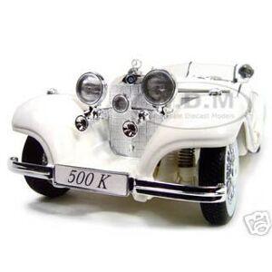 Maisto 1936 Mercedes Benz 500 K Special Roadster White 1/18 Diecast Model Car by Maisto
