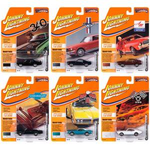 Johnny Lightning Muscle Cars USA 2020 Set B of 6 Cars Release 1 Limited Edition to 2500 pieces Worldwide 1/64 Diecast Model Cars by Johnny Lightning