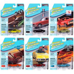 Johnny Lightning Muscle Cars USA 2020 Set A of 6 Cars Release 1 Limited Edition to 2500 pieces Worldwide 1/64 Diecast Model Cars by Johnny Lightning