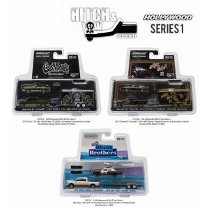 """Greenlight """"Hollywood Hitch & Tow"""" Series 1 Set of 3 pieces 1/64 Diecast Model Cars by Greenlight"""