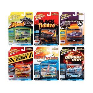 "Johnny Lightning ""Street Freaks"" 2020 Set A of 6 Cars Release 4 1/64 Diecast Model Cars by Johnny Lightning"