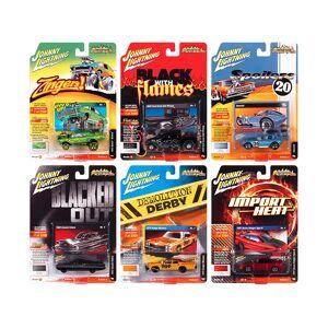 """Johnny Lightning """"Street Freaks"""" 2020 Set B of 6 Cars Release 3 1/64 Diecast Model Cars by Johnny Lightning"""
