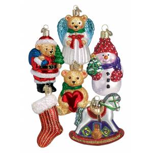 Old World Christmas Baby's 1st Christmas 6-Piece Ornament Collection  - Red/White - Size: One Size
