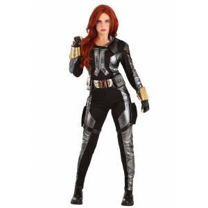Charades Premium Black Widow Women's Costume  - Black/Gray - Size: Small