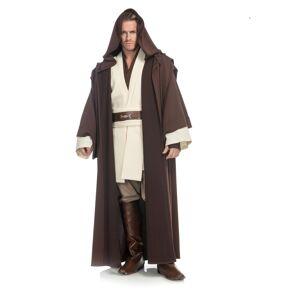Charades Obi Wan Kenobi Men's Costume  - Brown/Beige - Size: Small