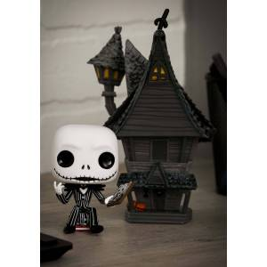 Funko POP Vinyl Nightmare Before Christmas Pop! Town: Jack w/ Jack's House  - Black/Gray/White - Size: One Size