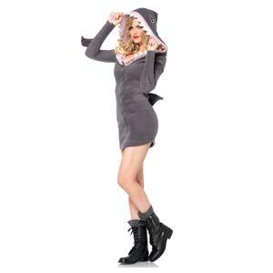 Leg Avenue Cozy Shark  Costume For Adults  - Gray - Size: Medium