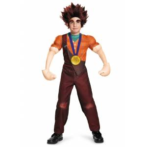 Disguise Limited Child Deluxe Wreck It Ralph Costume  - Orange/Red - Size: Large