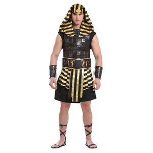 FUN Costumes Adult Men's Ancient Pharaoh Costume  - Black/Orange - Size: Small