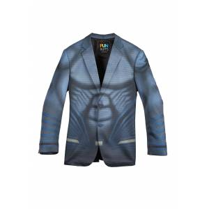FUN Suits Superman Slim Fit Suit Jacket Alter Ego  - Blue - Size: 42R