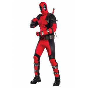 Rubies Costume Co. Inc Adult Grand Heritage Deadpool Costume  - Black/Red - Size: ST