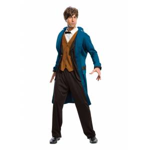 Rubies Costume Co. Inc Fantastic Beasts Newt Scamander Costume for Men  - Brown/Green - Size: Extra Large