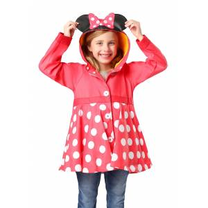 Western Digital Minnie Mouse Rain Coat for Girls  - Red/White - Size: 4T