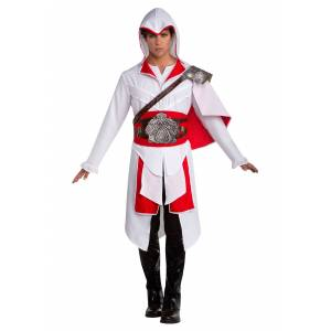 LF Products Pte. Ltd. Assassin's Creed II Ezio Costume for Men  - Red/White - Size: Large