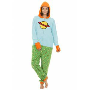 Undergirl Rugrats Chuckie Union Suit Onesie for Adults  - Blue/Green/Orange - Size: Extra Large