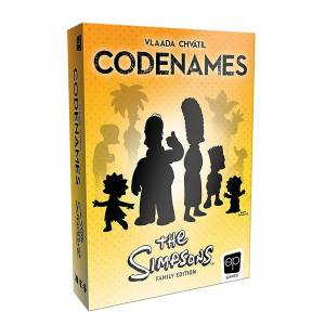 USAopoly The Simpsons Card Game: CODENAMES  - Blue/Orange - Size: One Size