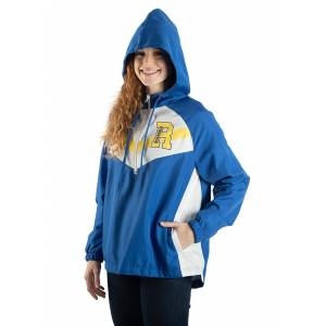 Bioworld Merchandising / Independent Sales Womens Riverdale Windbreaker  - Blue/Yellow/White - Size: Large