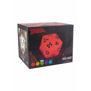 Paladone D20 Dungeons & Dragons Light  - Black/Red/White - Size: One Size