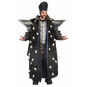 Elope Mens Time Replica Jacket with Epaulettes  - Black/Gray/Purple - Size: One Size