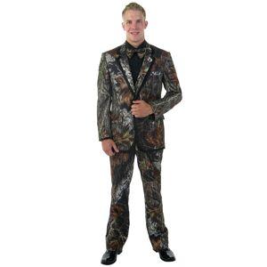 FUN Costumes Mossy Oak New Break-Up Alpine Formal Tuxedo  - Brown - Size: 5X