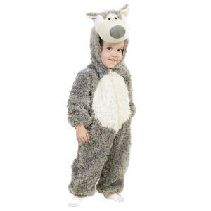 Princess Big Bad Wolf Toddler Costume  - White/Brown - Size: 12/18mo