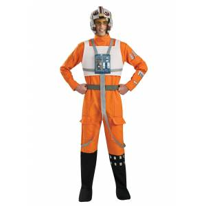 Rubies Costume Co. Inc X-Wing Rebel Pilot Costume from Star Wars  - Black/Orange/White - Size: Extra Large