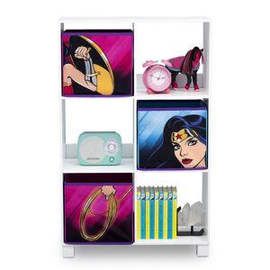Delta Children 6 Cubby Storage Unit Wonder Woman  - Black/Pink/Blue/White - Size: One Size