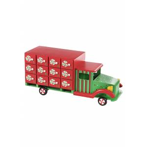 Darice Christmas Truck Advent Calendar  - Green/Red - Size: One Size