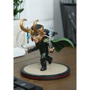 Quantam Mechanix Loki Q-Fig Ragnarok Thor Diorama  - Black/Orange/Green - Size: One Size