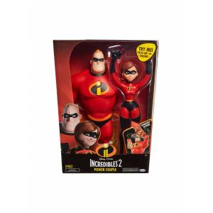 """Jakks Pacific Feature 12"""" Mr. Incredible and Elastigirl Action Figures  - Black/Red - Size: One Size"""