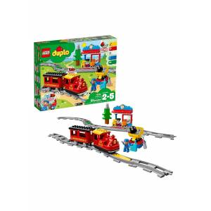 Lego DUPLO Town Steam Train 59 Piece Building Set  - Blue/Red/Yellow - Size: One Size