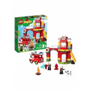 Lego DUPLO LEGO Fire Station  - Red/Yellow/White - Size: One Size